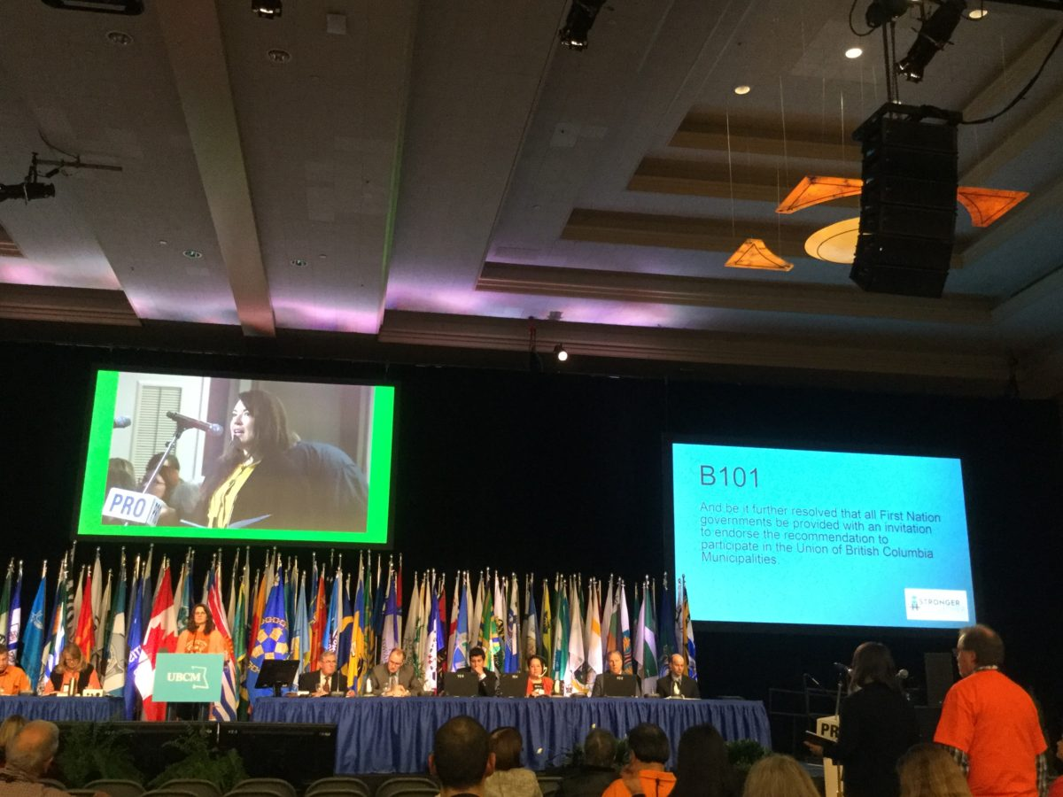 Report from UBCM 2016 in Victoria